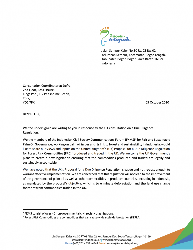 Open Letter ID NGOs to DEFRA on UK DDR