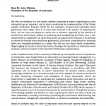 Open Letter of Indonesian Civil Society Coalition To The President of The Republic of Indonesia For Revocation Or Revision of Regulation of The Minister of Trade Number 15 Of 2020 Concerning Provisions On The Export Of Forestry Products Industry