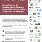 RAISING THE BAR Strengthening EU biodiversity and climate leadership through FLEGT and Forest Partnership